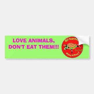 ¡food2, ANIMALES del AMOR, NO LOS COMEN!!! Pegatina Para Auto