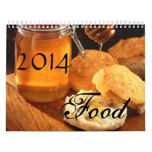 Food 2014 Calendar, Beautiful Tasty Delights