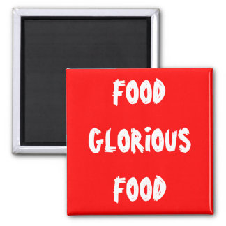 food 2 inch square magnet