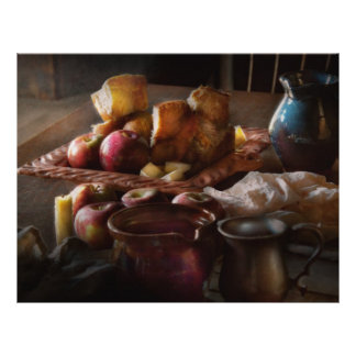 Food - A tribute to Rembrandt - Apples and Rolls Full Color Flyer
