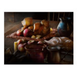 Food - A tribute to Rembrandt - Apples and Rolls Post Card