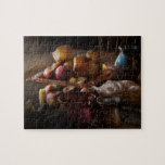 Food - A tribute to Rembrandt - Apples and Rolls Jigsaw Puzzles