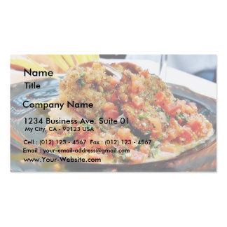 Food Abalones Dinner Business Card