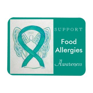 Food Allergies Awareness Ribbon Angel Magnet