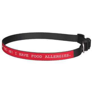 Food Allergies Safety Medical Alert Pet Collar