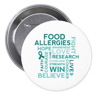 Food Allergies Teal Ribbon Pins