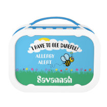 Food Allergy Alert Bumble Bee Lunch Box