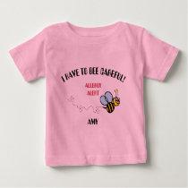 Food Allergy Alert Bumble Bee Shirt