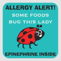 Food Allergy Alert Ladybug Stickers