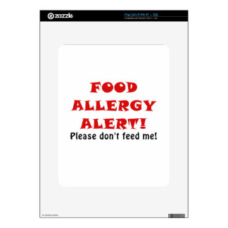 Food Allergy Alert Please Dont Feed Me Decal For iPad