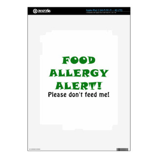 Food Allergy Alert Please Dont Feed Me iPad 3 Decal