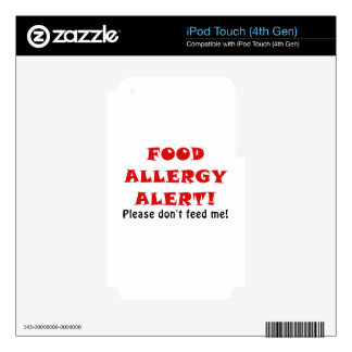 Food Allergy Alert Please Dont Feed Me iPod Touch 4G Decal