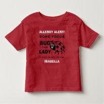 Food Allergy Alert Red Ladybug Shirt