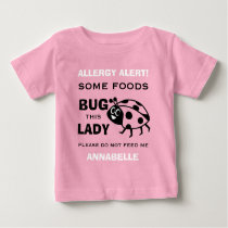 Food Allergy Alert Red Ladybug Shirt
