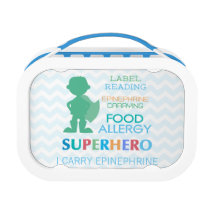Food Allergy Alert Superhero Boys Lunchbox
