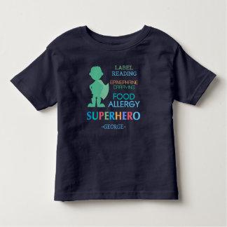 Food Allergy Alert Superhero Boys Shirt