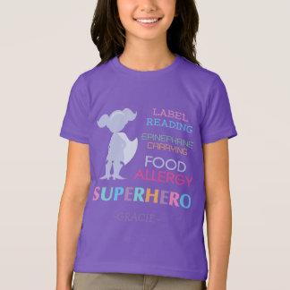 Food Allergy Alert Superhero Girls Shirt