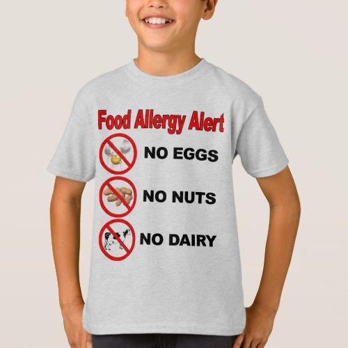 Food Allergy Alert T_Shirt