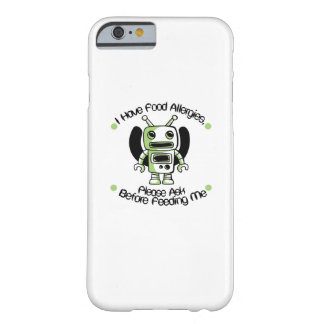 Food Allergy Allergies Awareness Robot Gifts Barely There iPhone 6 Case