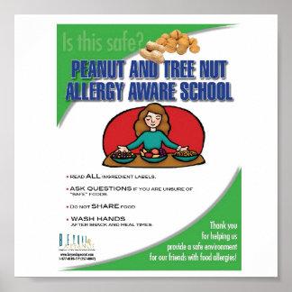 Food Allergy Aware School Poster