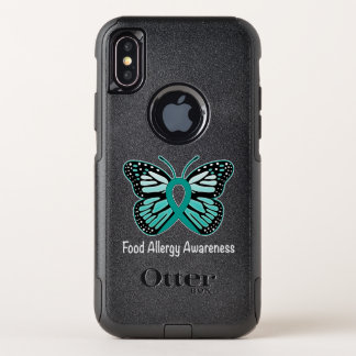 Food Allergy Awareness Butterfly OtterBox Commuter iPhone X Case