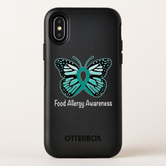Food Allergy Awareness Butterfly OtterBox Symmetry iPhone X Case