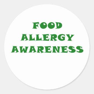 Food Allergy Awareness Classic Round Sticker