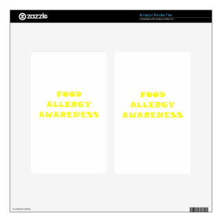 Food Allergy Awareness Decal For Kindle Fire