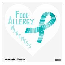 Food Allergy Awareness Heart Decoration Wall Sticker
