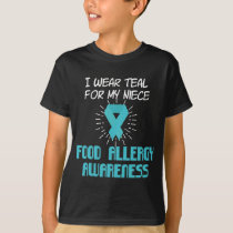 Food Allergy Awareness Niece T-Shirt Milk P