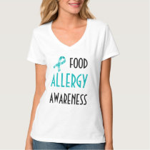 Food Allergy Awareness Teal Ribbon Awareness T-Shirt