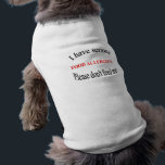 """Food Allergy Dog Shirt<br><div class=""""desc"""">As crazy as it sounds,  my dog has food allergies!  People give treats to dogs all of the time but for some pets this is dangerous. Let your doggy share the message and help your lovey stay healthy and safe!</div>"""