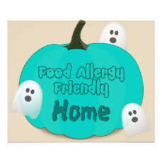 Food Allergy Friendly Home Photo Print Sign