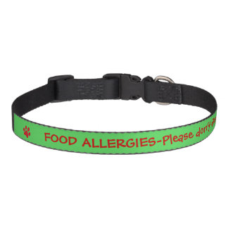 Food Allergy Medical Alert-Green Pet Collar