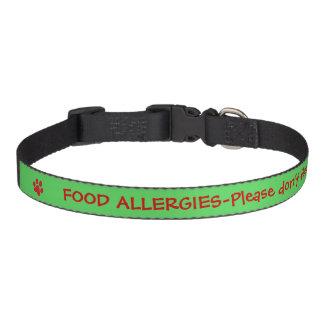 Food Allergy Medical Alert-Green Pet Collar
