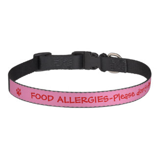 Food Allergy Medical Alert-Pink Pet Collar