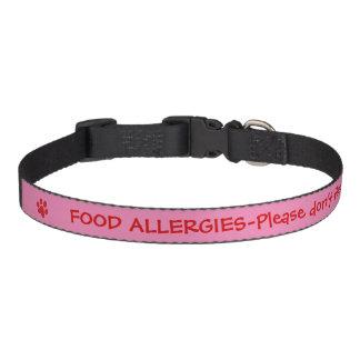 Food Allergy Medical Alert-Pink Pet Collar