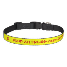 Food Allergy Medical Alert-Yellow Pet Collar