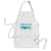 Food Allergy Mom Watercolor Typography Awareness Adult Apron