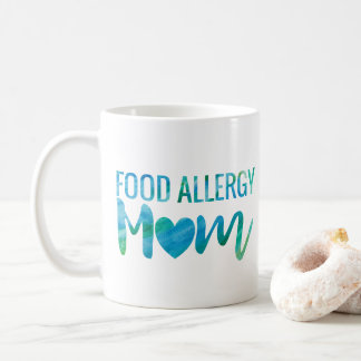 Food Allergy Mom Watercolor Typography Awareness Coffee Mug