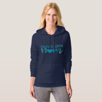 Food Allergy Mom Watercolor Typography Awareness Hoodie