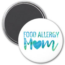 Food Allergy Mom Watercolor Typography Awareness Magnet