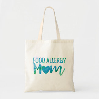 Food Allergy Mom Watercolor Typography Awareness Tote Bag