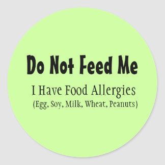 Food Allergy Sticker