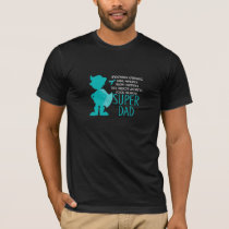 Food Allergy Super Dad Teal Silhouette Superhero T-Shirt