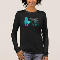 Food Allergy Super Mom Silhouette Superhero Long Sleeve T-Shirt