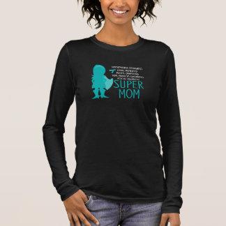 Food Allergy Super Mom Silhouette Superhero Long Sleeve T-Shirt
