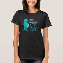 Food Allergy Super Mom Silhouette Superhero T-Shirt