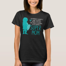 Food Allergy Super Mom Teal Silhouette T-Shirt