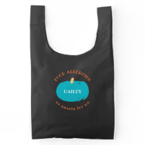 Food Allergy Teal Pumpkin Non Food Treats Custom Reusable Bag